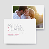 Duet Photo Save The Date Cards