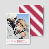 Striped Photo Save The Date Cards