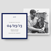 Coastal Photo Save The Date Cards