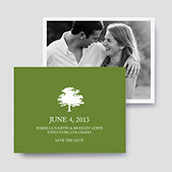 Tree Icon Photo Save The Date Cards