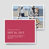 Collage Photo Save The Date Cards