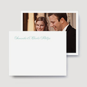 Script Wedding Thank You Stationery