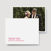 Tailored Wedding Thank You Cards