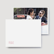 Thin Monogram Wedding Thank You Cards