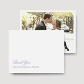 Tailored Script Wedding Thank You Cards
