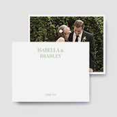 Timeless Wedding Thank You Cards