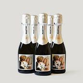 Mini Champagne Bottle Label