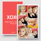 Jumbo Xoxo Collage Card