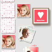 Pinhole Press Heart Memory Game Pink