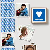 Pinhole Press Heart Memory Game Blue