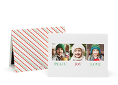 Candy Cane Folded Photo Card