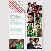 Candy Cane Accordion Photo Card