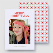 Geometric Christmas Photo Card