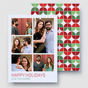 Flower Power Christmas Photo Card