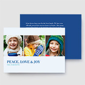 Peace, Love & Joy Photo Card