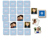 Pinhole Press Snowflake Memory Game Blue