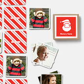 Pinhole Press Santa Memory Game Red