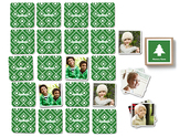 Pinhole Press Christmas Tree Memory Game Green