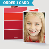 Ombre Valentine's Day Photo Card