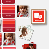 Pinhole Press Ombre Memory Game Red