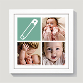 Baby Icon Framed Collage