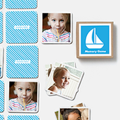 Pinhole Press Sailboat Memory Game Blue