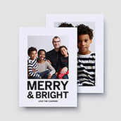 Merry & Bright Holiday Photo Card
