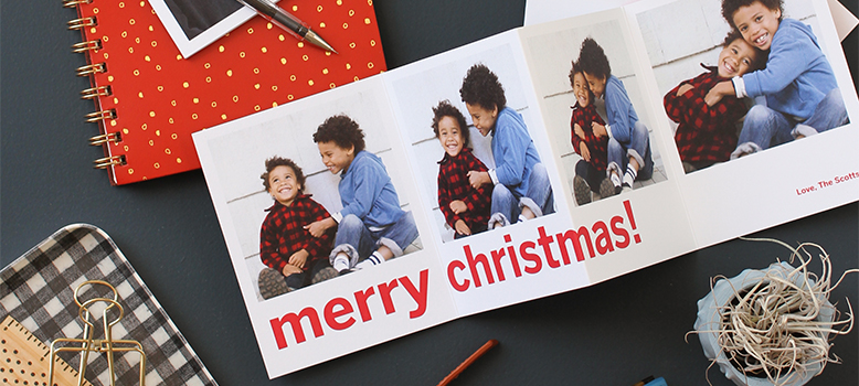 Folded Holiday Card Banner