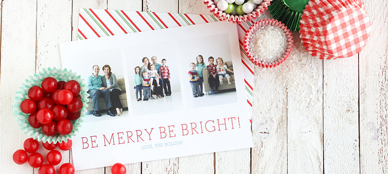 Flat Holiday Card Banner