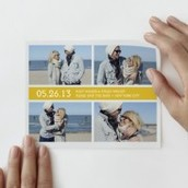 Tailored Save The Date Decal - Yellow
