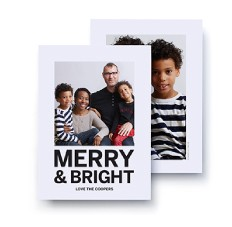 A7 Vertical Holiday Card
