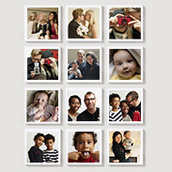 Square Photo Magnet Set of 12 Waterfall