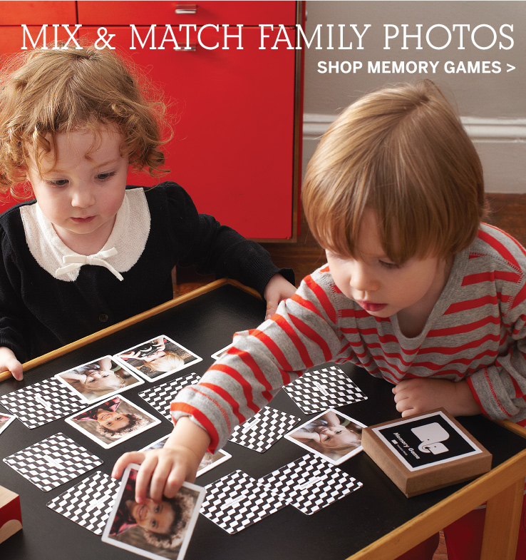 Mix & Match Family Photos - Shop Memory Game