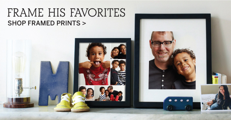 Frame His Favorites - Shop Framed Prints