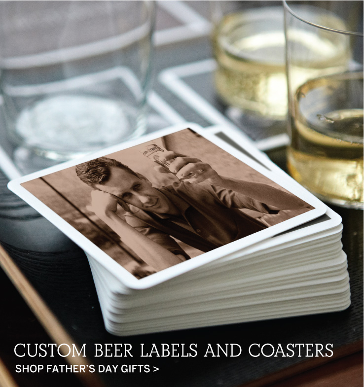 Custom Beer Labels and Coasters - Shop Father's Day Gifts