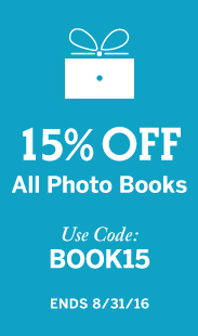 15% Off All Photo Books | Use Code BOOK15, ends 8/31/16