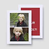 All Our Love Color Block Holiday Card