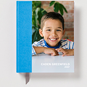 Blue Hardcover Planner Waterfall