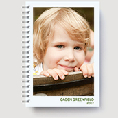 Softcover Planner Green Waterfall
