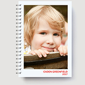 Softcover Planner Red Waterfall