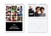Small Wall Calendar Black Detail