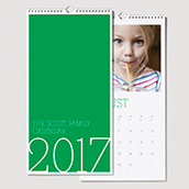 Wall Calendar Green Waterfall
