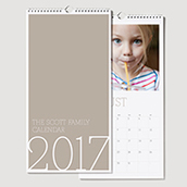 Wall Calendar Khaki Waterfall