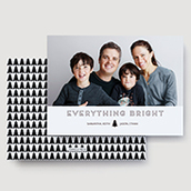 Everything Bright Black Holiday Card Waterfall