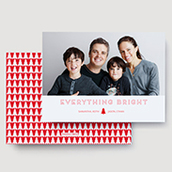 Everything Bright Red Holiday Card Waterfall