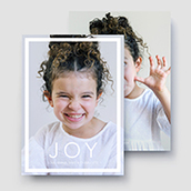 Joy Modern Holiday Card Waterfall