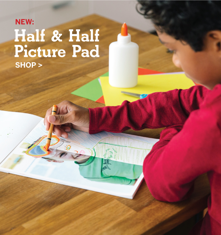NEW: Half and Half Picture Pad, Shop