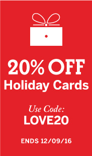 20% off Holiday Cards with code: LOVE20