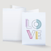 LOVE Valentine's Day Card Waterfall