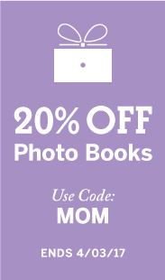 20% Off Photo Books, Use Code: MOM